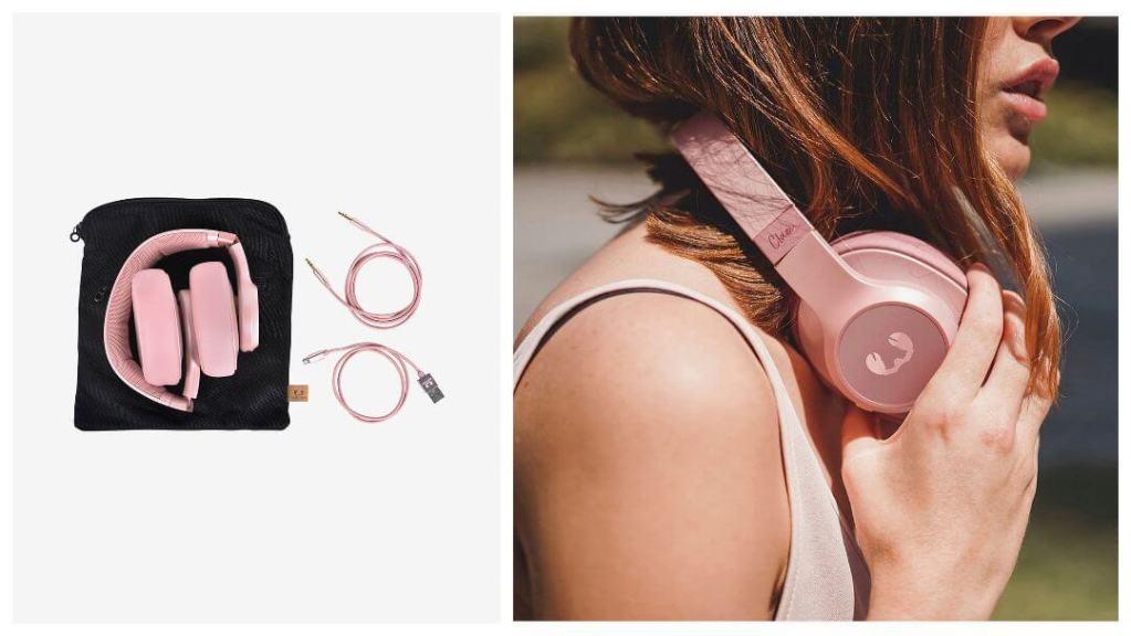 Clam Wireless Dusty Pink hodetelefoner - Gavetips til kjæresten
