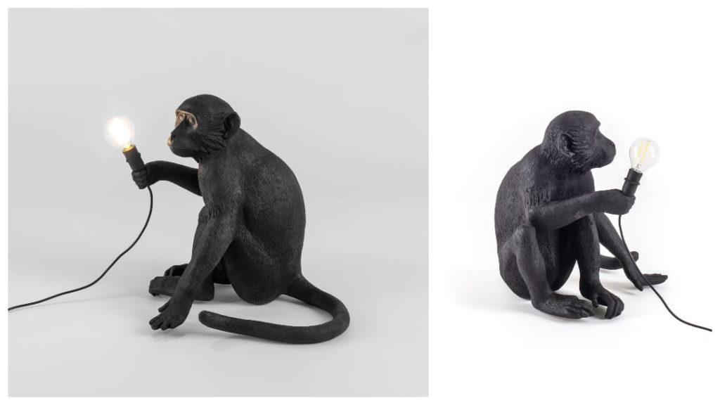 Presenttips till honom: SELETTI, Monkey Lamp Outdoor Sitting, Svart