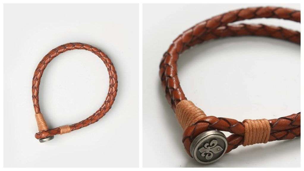 julklapptips till pojkvännen: Flätat läderarmband från Morris