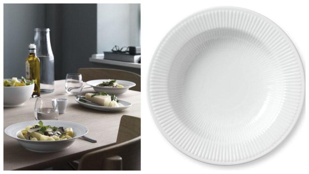 tips på förlovningspresent: Royal Copenhagen Pastatallrik 'White Fluted
