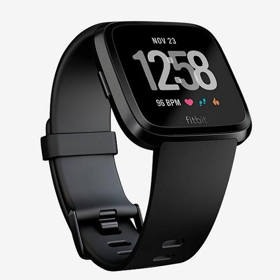 Present till man som gillar teknik: Fitbit Versa i Black Aluminium