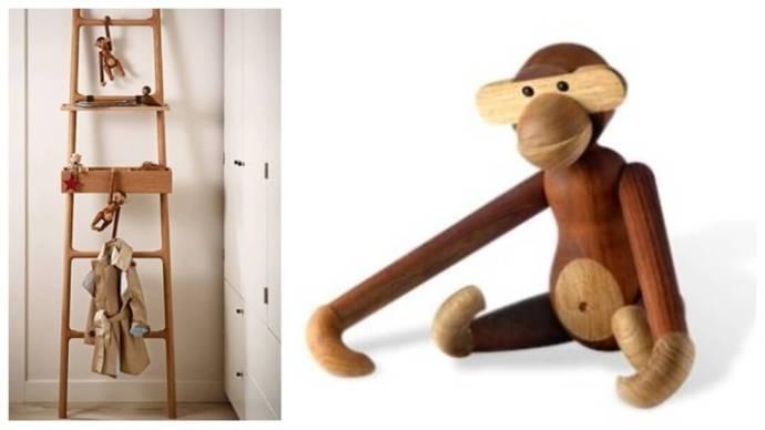 Gaveidé: ape i teak fra Kaj Bojesen