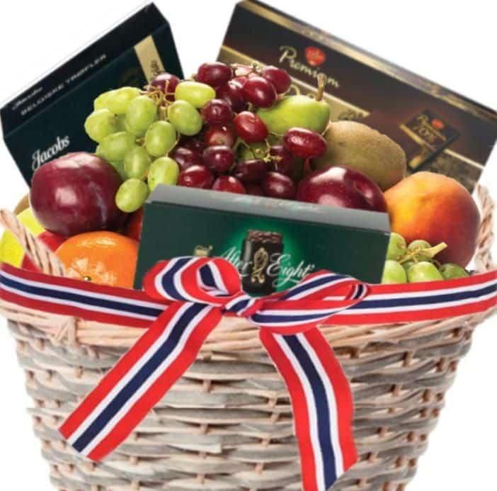 Tips til gavekurv: Fruktkurv med sjokolade