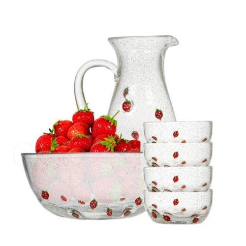 Jordbærserien fra Hadeland Glassverk