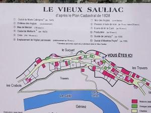 map of Sauliac