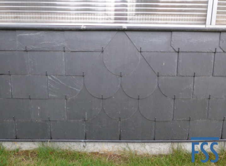 Diamond pattern slate cladding - a sign of a true craftsman