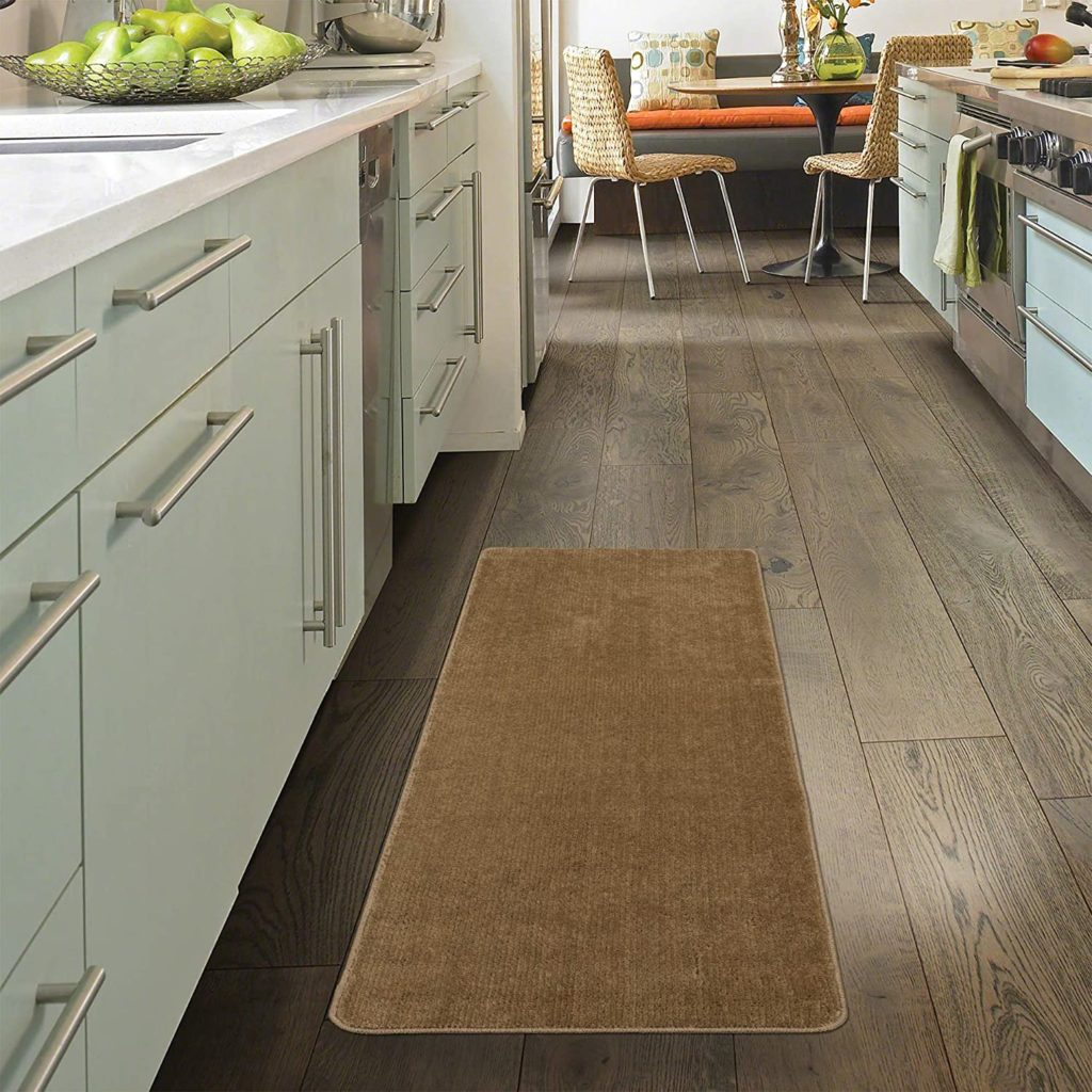 right rug in front of your kitchen sink