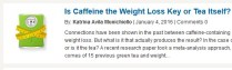 More claims about weight loss with tea