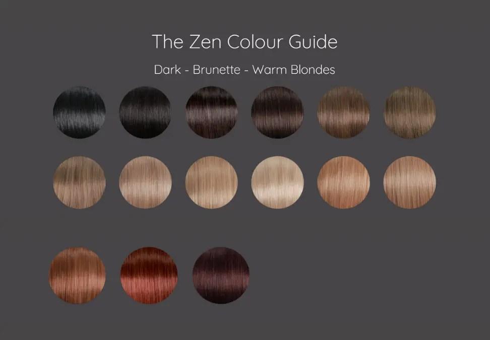 Zen Hair Extensions Colours