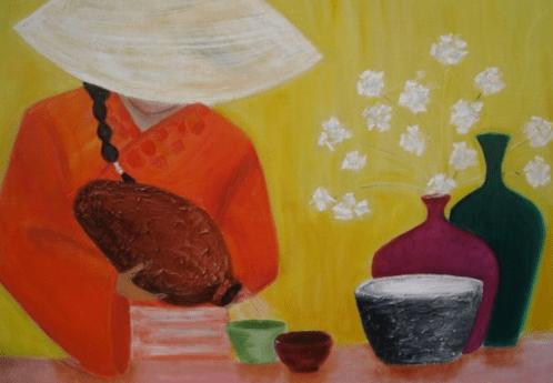 Japanese wine painting