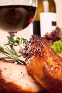 Wine and pork