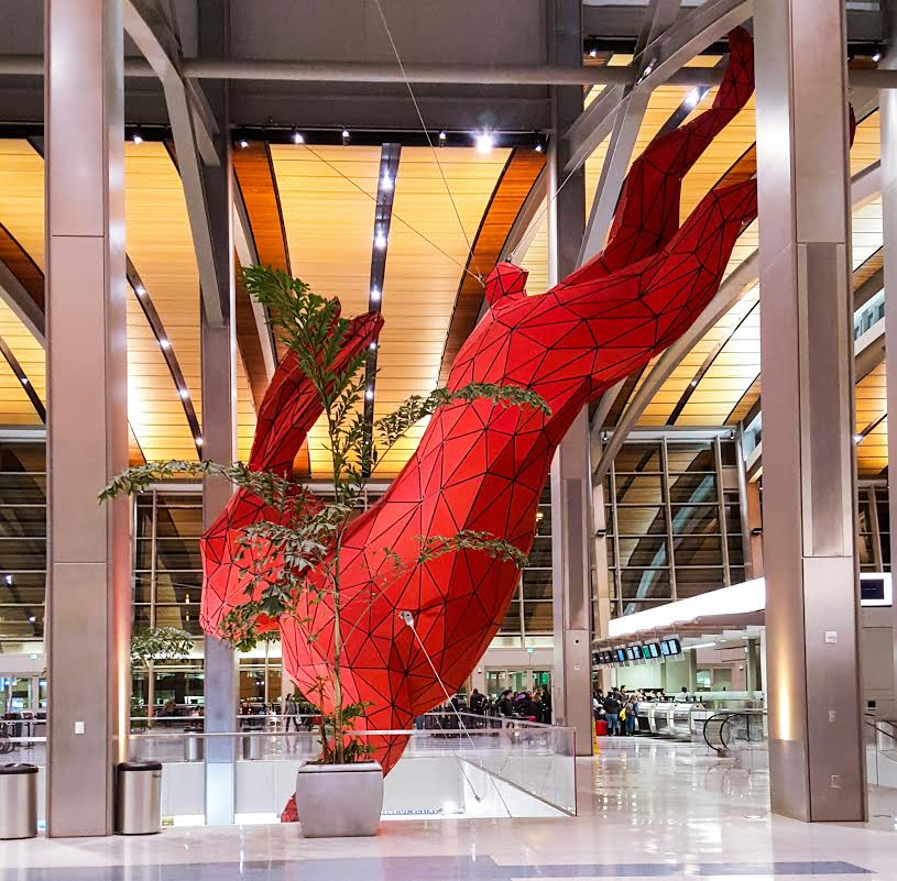 "Leap, aka, ""Red Rabbit"" by Lawrence Argent 