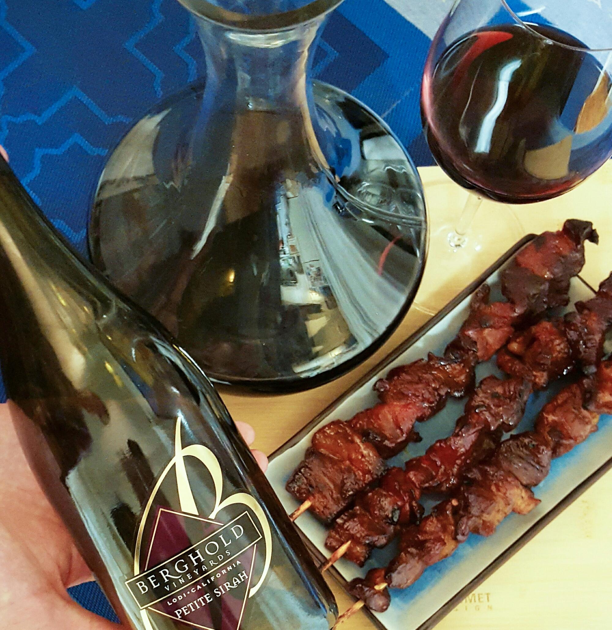Filipino food wine pairing - Barbeque and Petite Sirah