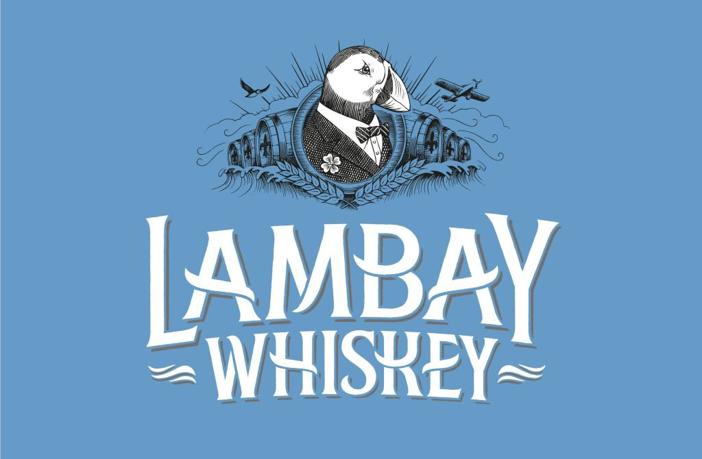 LOGO LAMBAY WHISKEY blue