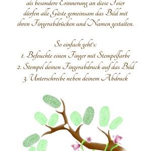 Fingerabdruck Baum Anleitung, Fingerabdruckbaum Vorlage