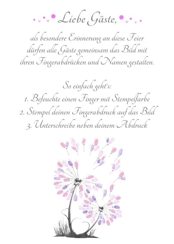 Fingerabdruck Blume Anleitung, Fingerabdruck Pusteblume Vorlage