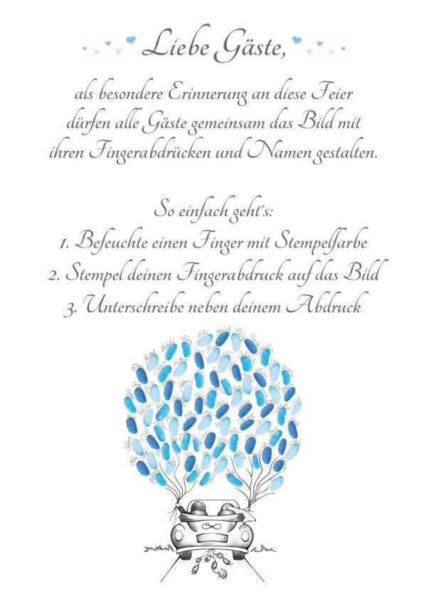 Wedding tree Auto Anleitung, Fingerabdruckbaum Auto Anleitung