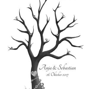 Wedding Tree, Fingerabdruckbaum, Vintage Hochzeit Deko, Hochzeit Gästebuch