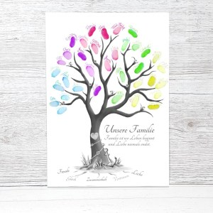 Fingerabdruckbaum, Stammbaum, Familienbaum Vorlage