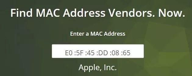 Mac Vendor nous confirme bien que cette adresse MAC appartient à Apple