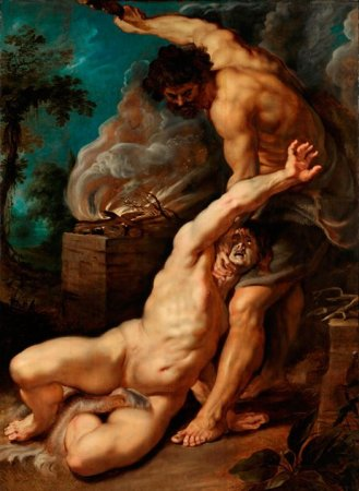 가인을 죽이는 죄를 짓는 아벨 - Peter Paul Rubens