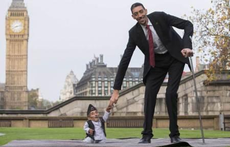 세계에서 가장 키가 큰 사람과 가장 키가 작은 사람 - 유인원의 허구