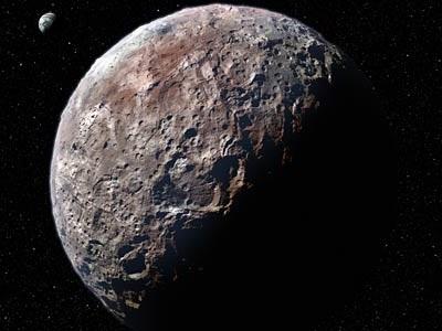 국제 천문학 연합의 명왕성 예측 그림
