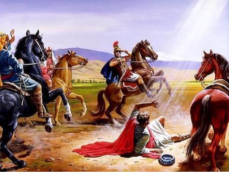 다메섹에서 빛을 보고 쓰러진 사도 바울
