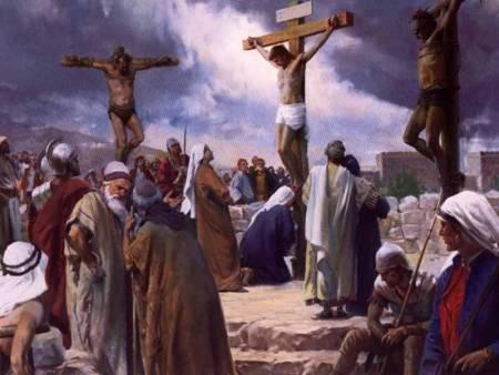 십자가 위에 두 강도는 모두 예수님을 저주 했는가