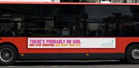 무신론자가 만든 버스 광고