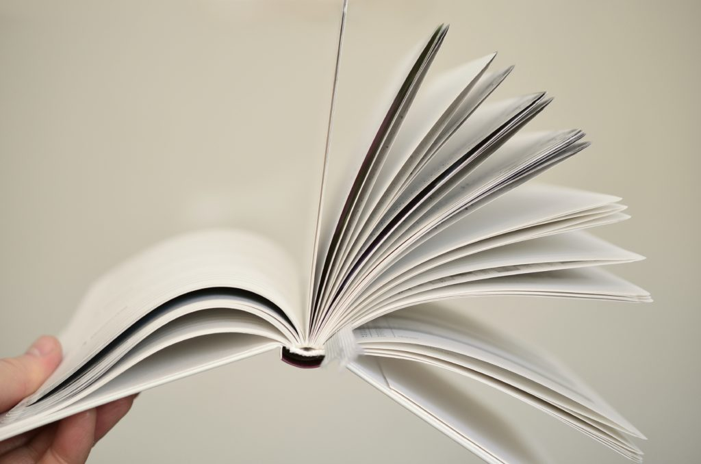papers in a book
