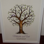 Purple Memory Tree with leaves - signed