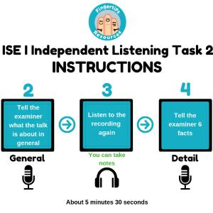 ISE I Trinity Independent Listening Task 2 Instructions