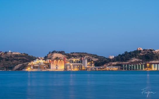 Lisbon sunset river