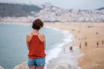 nazare girl beach
