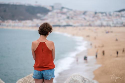 nazare girl beach