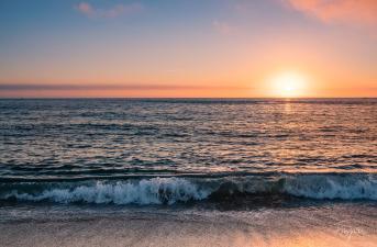 beach nazare sunset