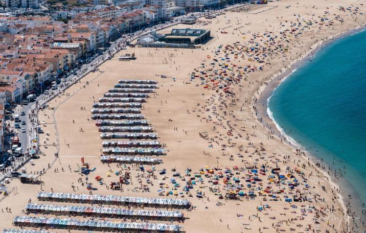 Nazare beach people sun