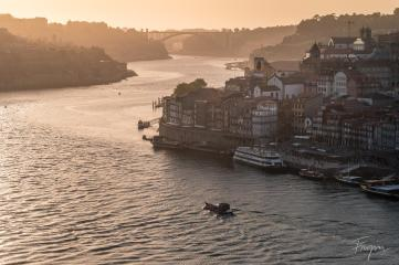 Porto sunset boat portugal