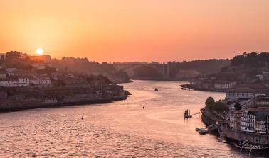 Porto sunset boat portugal