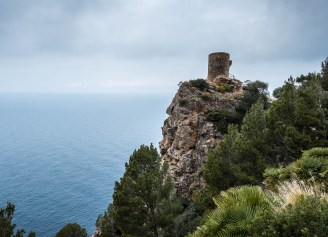 Remains of a former castle on the island of Mallorca