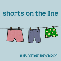 shorts on the line - a summer sew along