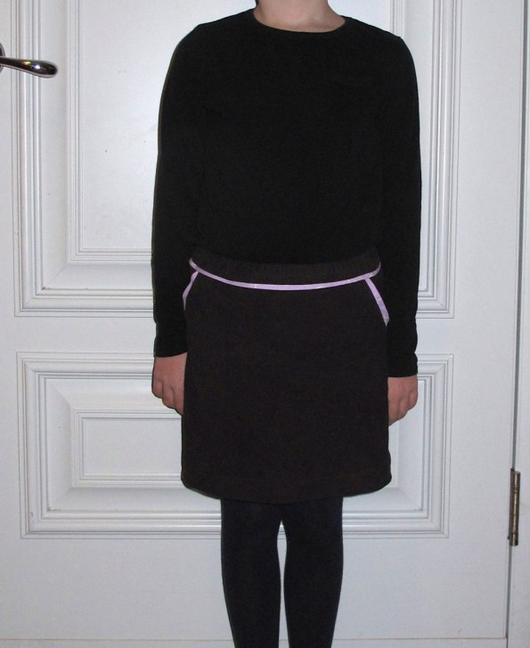 The Sunday brunch skirt by Oliver + S, sewn by The Finished Garment