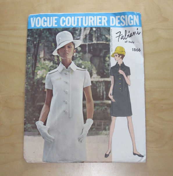 Vogue 1866 Vogue Couturier Design Fabiani - One-Piece Dress
