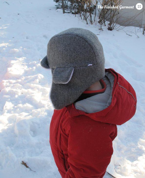 Arctic Trapper Hat sewing pattern from See Kate Sew, made by The Finished Garment.