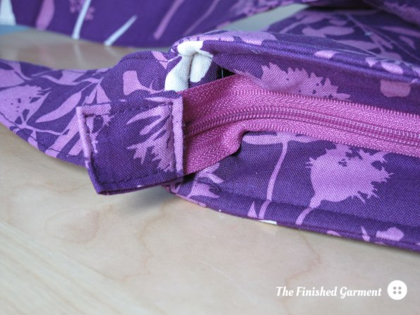 Two Zip Hipster bag sewing pattern by Dog Under My Desk, sewn by The Finished Garment.