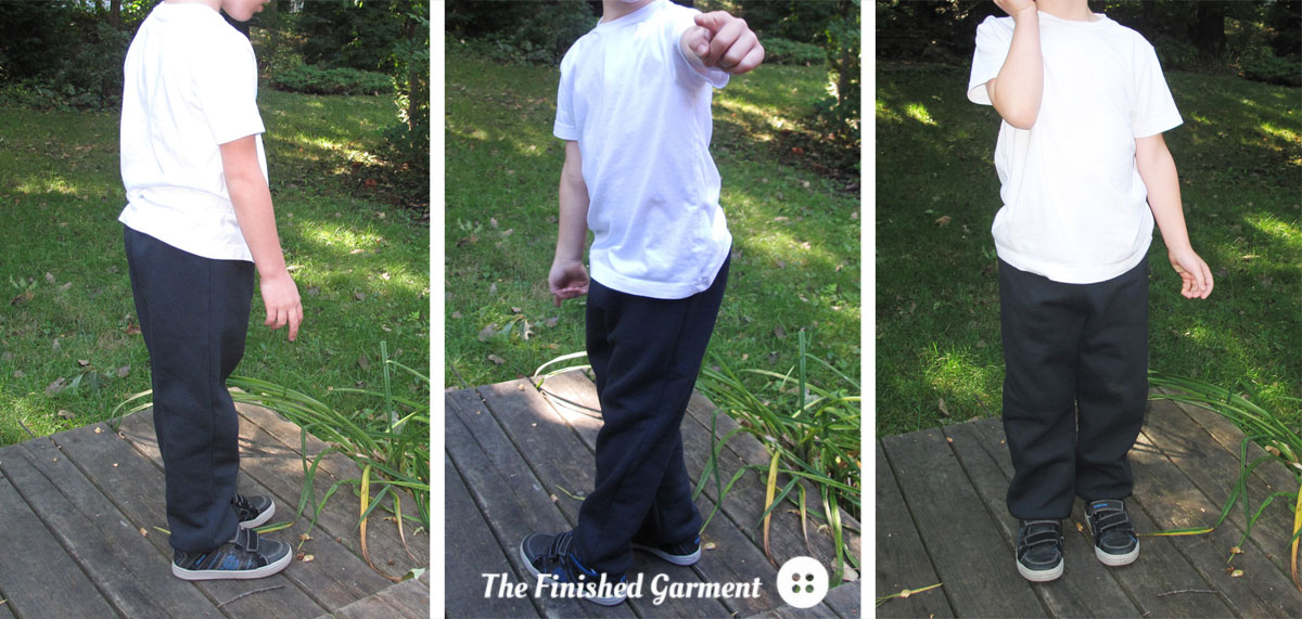 The Retro Sweatpants pattern by Elegance & Elephants, as sewn by The Finished Garment.