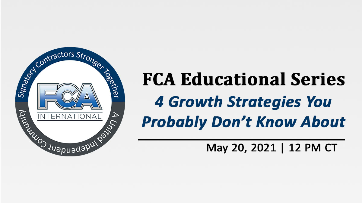 FCA News: Educational Series - May 2021 - Growth Strategies