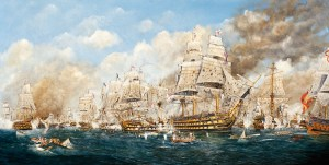 Battle of Trafalgar 1805 Canvas by Patrick Rodriguez