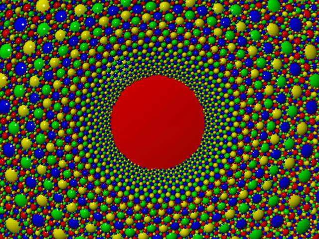 Inversion Geometry 1.4 Million Spheres #2